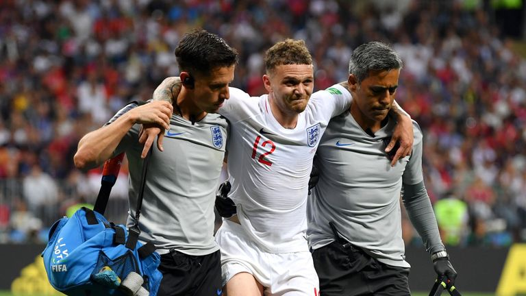 Kieran Trippier is expected to miss England's third-place play-off against Belgium