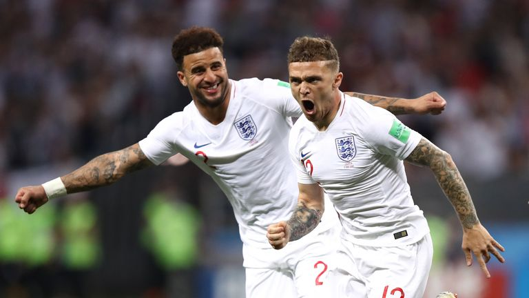 Kieran Trippier (right) was one of England's standout players at this year's World Cup