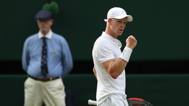 Novak Djokovic Beats Britain's Kyle Edmund at Wimbledon