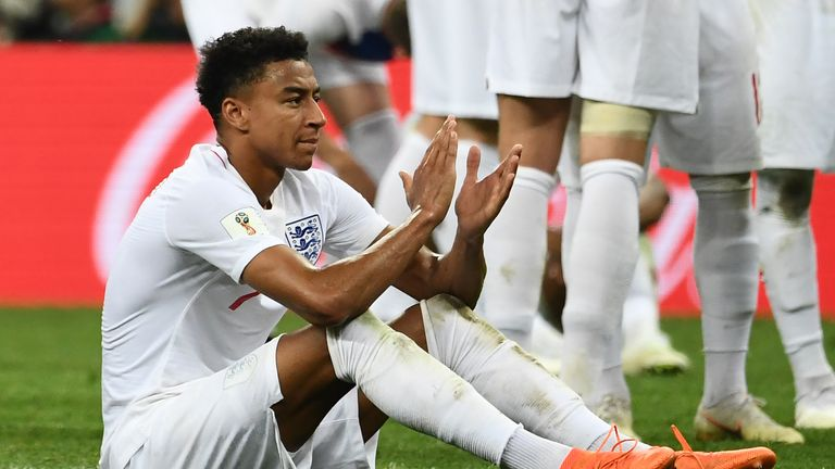 Jesse Lingard says England can hold their heads high after the defeat