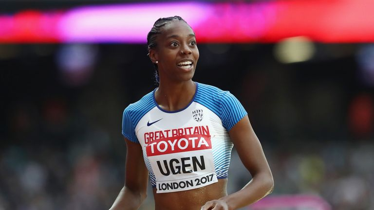Lorraine Ugen aims for glory at this weekend's Athletics World Cup