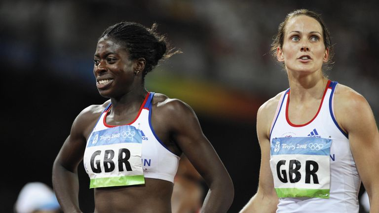Christine Ohuruogu and Kelly Sotherton were angered after being 'denied their moment' on the medal podium in 2008