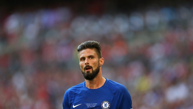 Atletico make approach for Chelsea striker Giroud