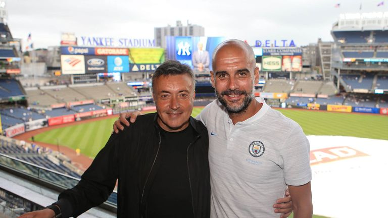 Guardiola also met New York City manager Dome Torrent who recently replaced Patrick Viera