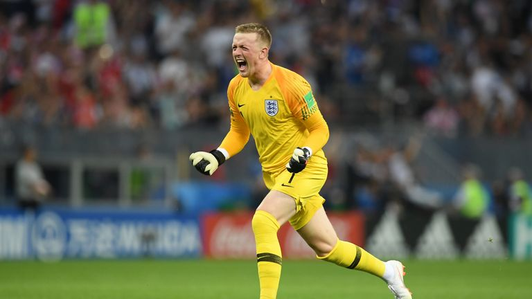 Jordan Pickford was one of the breakout stars for England