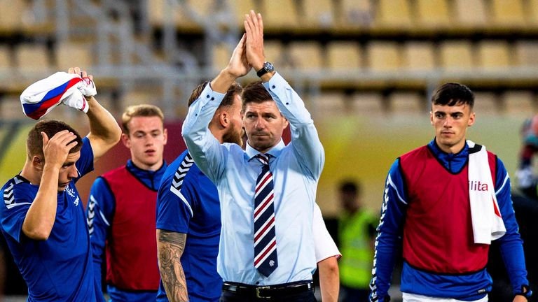 Rangers eased into the second-qualifying round with a 2-0 aggregate win over Shkupi