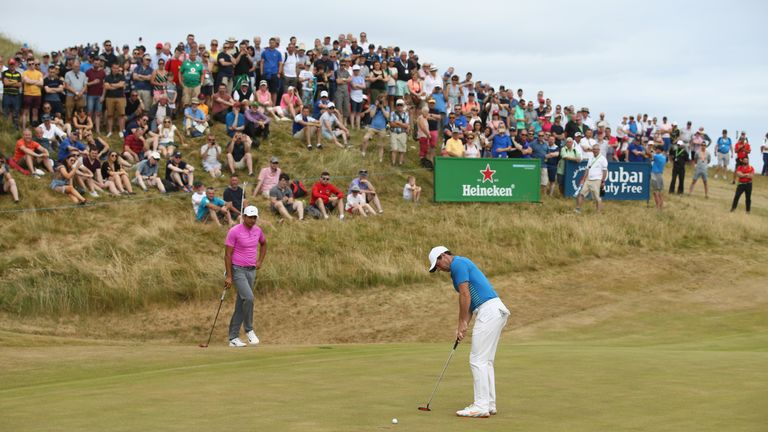 Rory McIlroy continued to miss good chances for birdie on day three