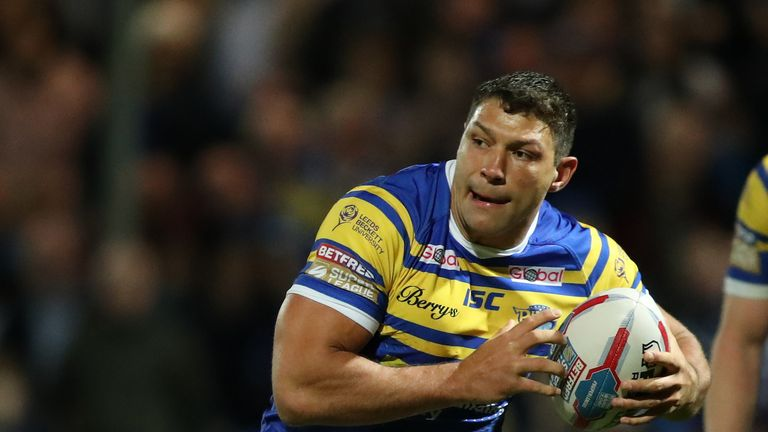 Ryan Hall ran over the first try of the day after just three minutes at Headingley
