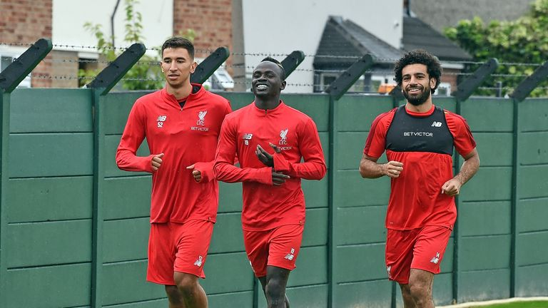 Sadio Mane and Mohamed Salah return to training for the first time since playing in the 2018 World Cup