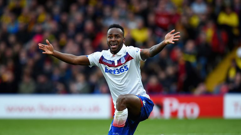 Saido Berahino was accused of being too unfit to play for Stoke by former manager Paul Lambert