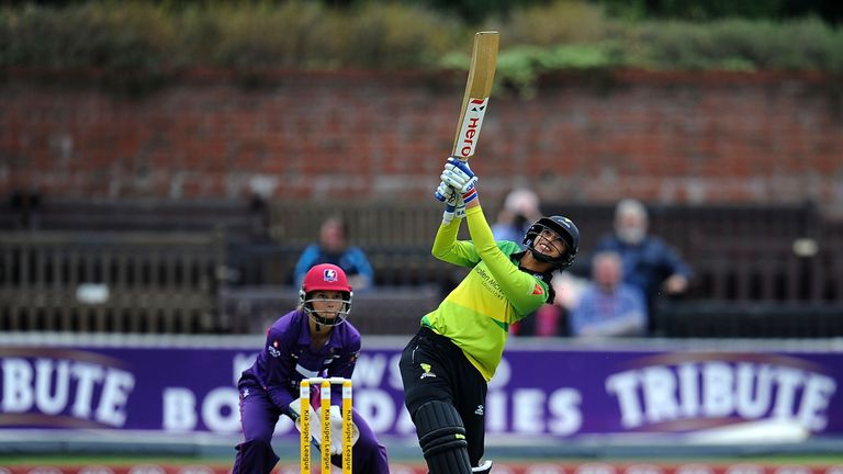 Mandhana smashes joint-fastest fifty in women T20s