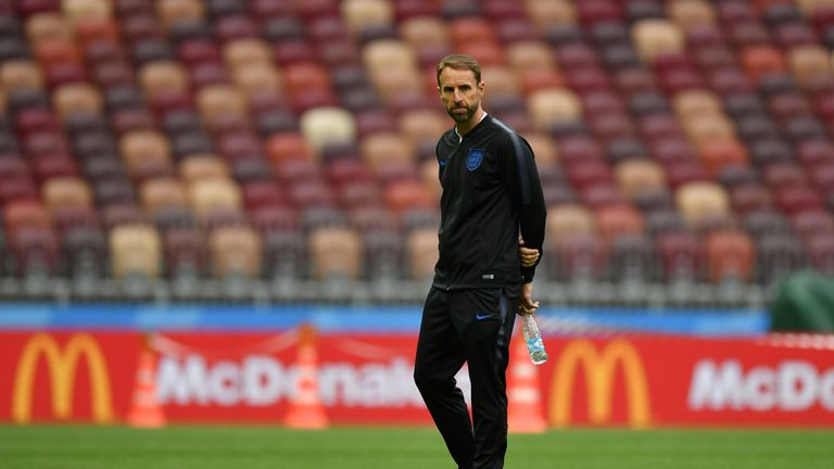 Southgate will walk his team through set-piece tactics for a final time hours before kick-off