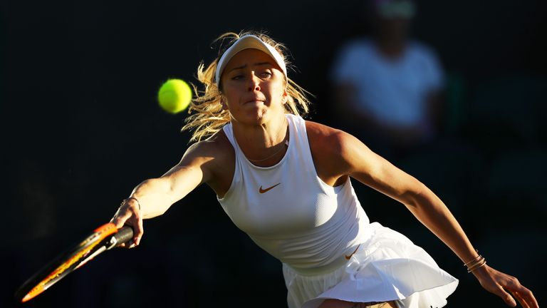 Elina Svitolina reached the fourth round at the All England Club last year