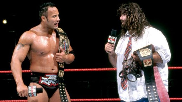The Rock 'n' Sock Connection held the tag-team titles on three separate occasions