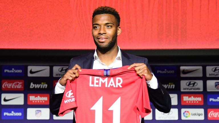 Thomas Lemar will wear the number 11 shirt at Atletico