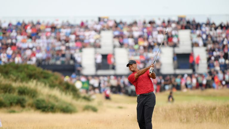 Woods is encouraged by his performance at Carnoustie