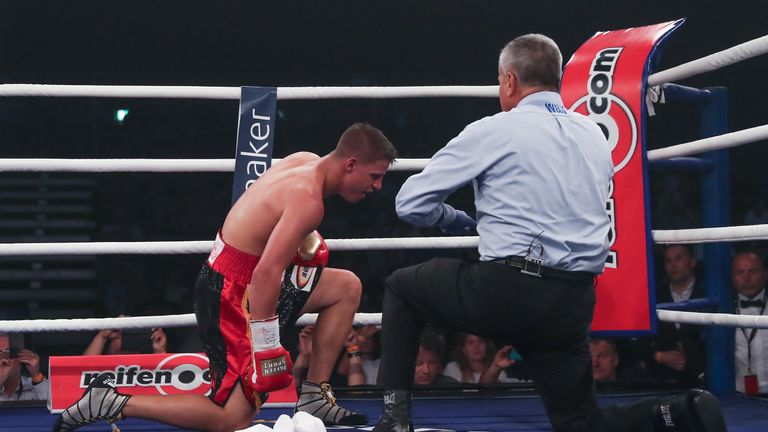 Zeuge sunk to his knees after the decisive left hook to the body