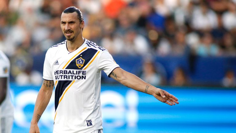 Zlatan Ibrahimovic: LA Galaxy striker scores his first MLS hat-trick