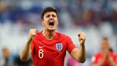 Harry Maguire and England reached the last four at the World Cup