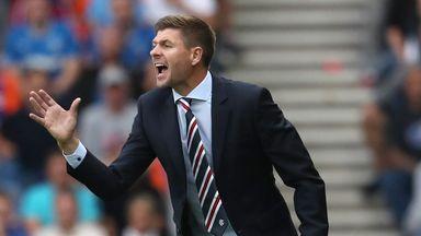 Steven Gerrard's Rangers won the first leg 2-0