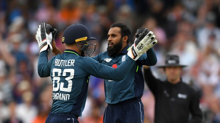 during the 3rd Royal London One-Day International match between England and India at Headingley on July 17, 2018 in Leeds, England.