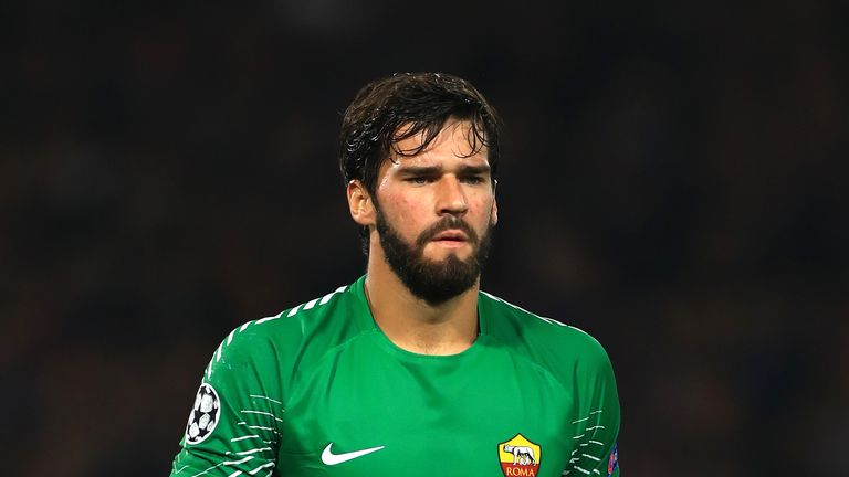 Alisson signed for Roma from Internacional in 2016 before they sold him on two years later