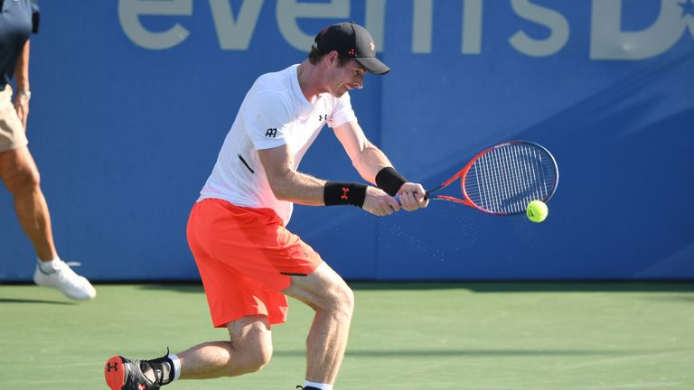 Andy Murray is playing his first hard-court tournament since Indian Wells last year