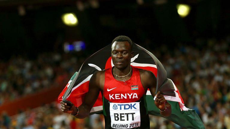 Nicholas Bett won 400m hurdles gold at the 2015 World Championships in Beijing