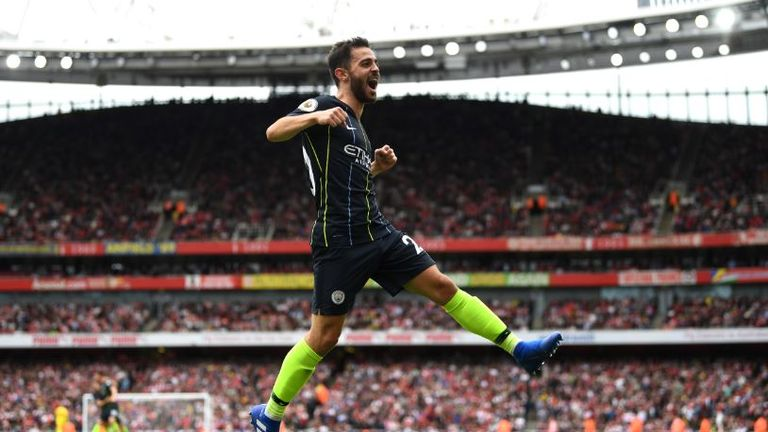 Bernardo SIlva celebrates Man City's second