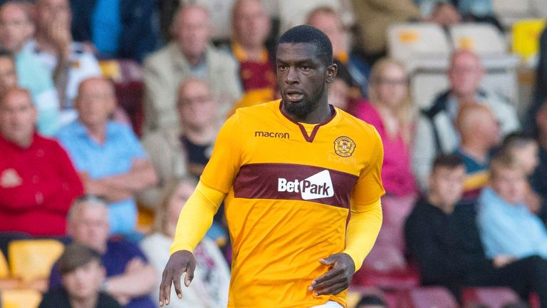 Cedric Kipre in action for Motherwell