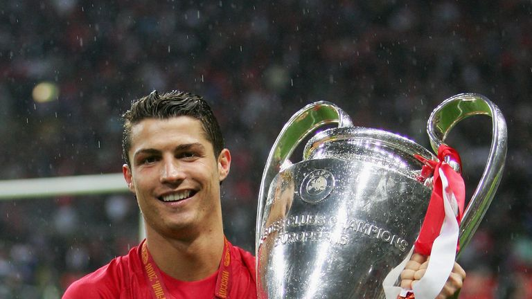 Cristiano Ronaldo Won The Champions League With Manchester United In 2008 Before Joining Real Madrid A