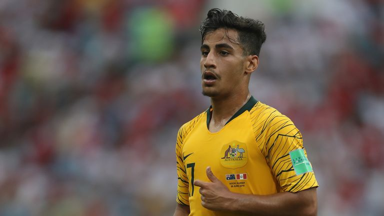 Arzani became the youngest Australian to feature at a World Cup this summer
