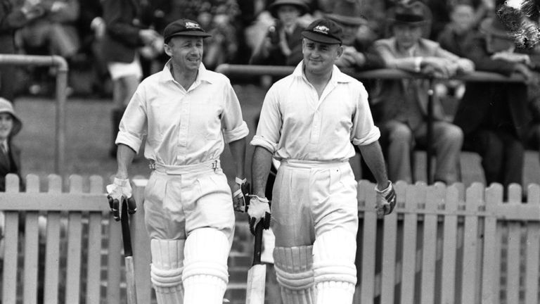 Bradman and Stan McCabe (right) both made centuries as Australia completed their comeback from 2-0 down to win the 1936-37 Ashes series