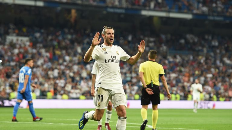 Real madrid sky sports football gareth bale doubled reals lead six minutes into the second half stopboris Images