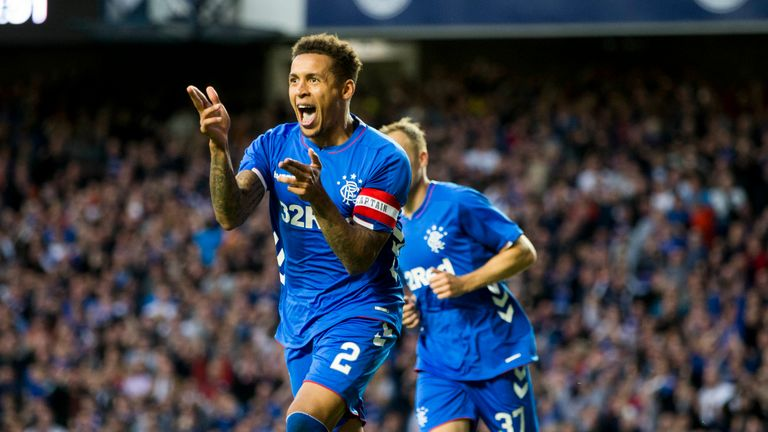 Tavernier celebrates for Rangers