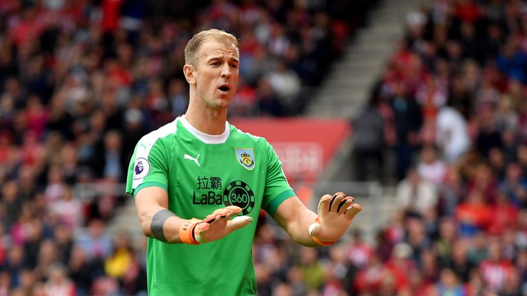 Joe Hart made his Premier League debut for Burnley