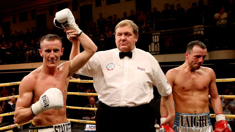Laight (R) last won in 2016 - he has boxed 53 fights since