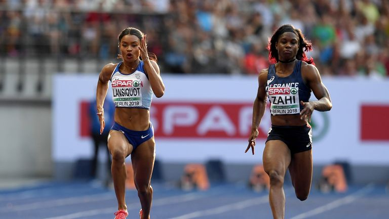 Imani Lansiquot was running in her first senior major championships