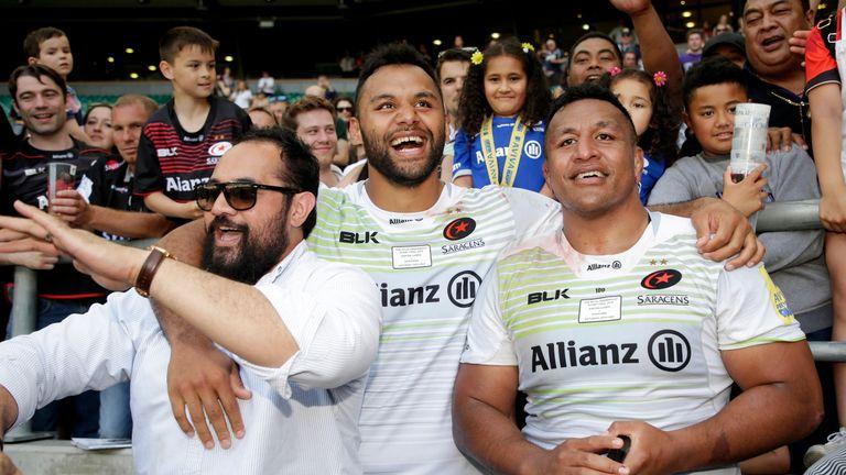 Billy (centre) and Mako Vunipola (right) were part of Saracens' Premiership-winning side last season