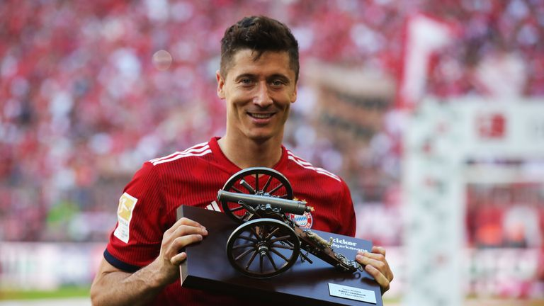 Lewandowski was the Bundesliga top scorer last season with 29 goals