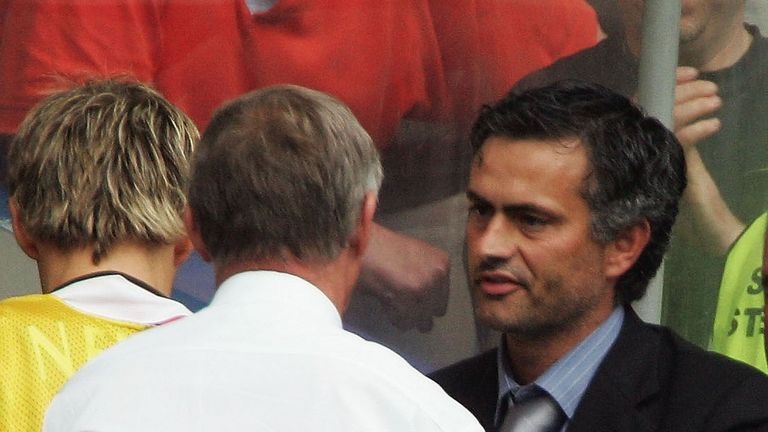 Sir Alex Ferguson and Jose Mourinho were opponents on the opening day in 2014