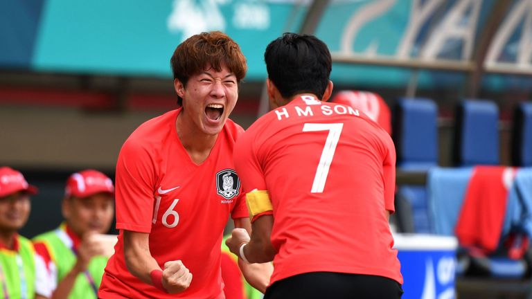 South Korea defeated Uzbekistan in the Asian Games quarter final in Indonesia