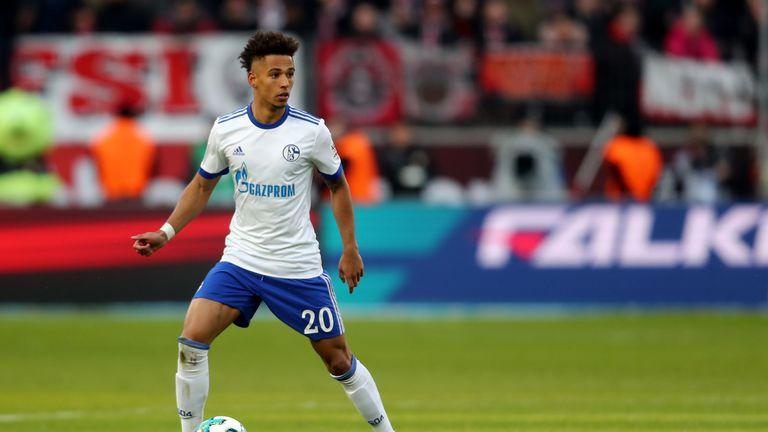 Kehrer in action for Schalke against Bayer Leverkusen