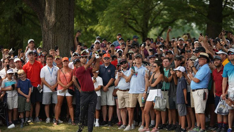 Woods pipped Adam Scott for outright second at Bellerive