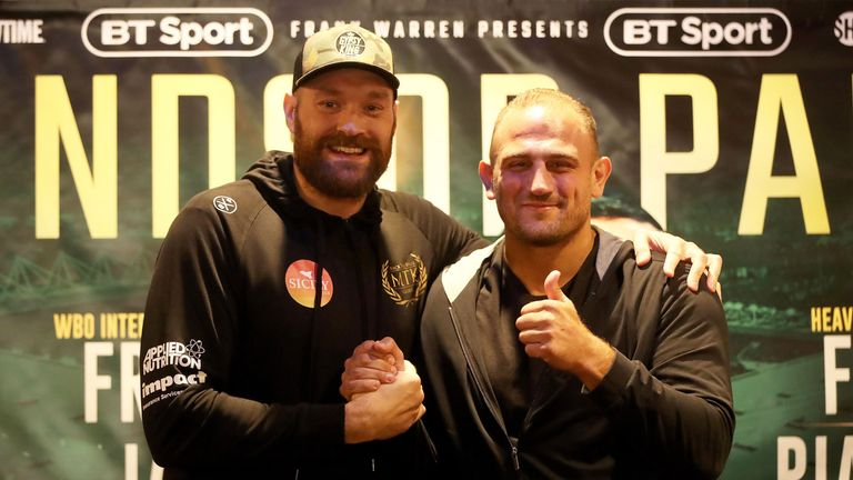Deontay Wilder crashes Tyson Fury's weigh