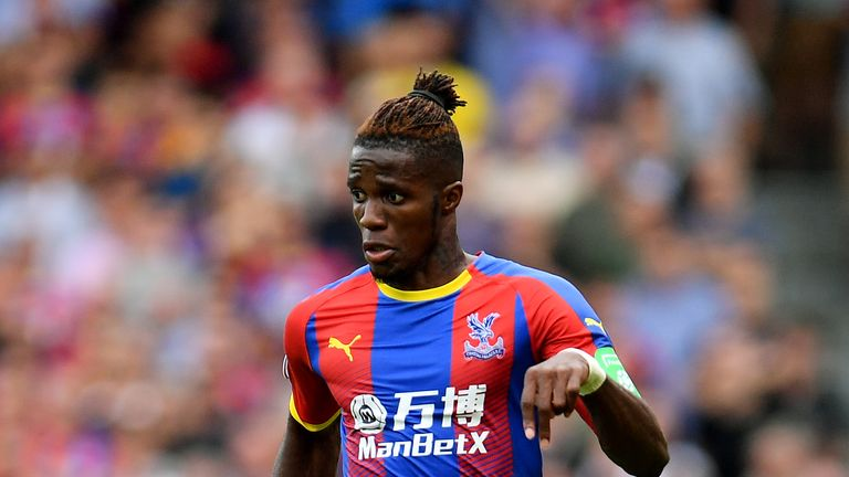 Wilfried Zaha is hoping to extend his contract at Crystal Palace