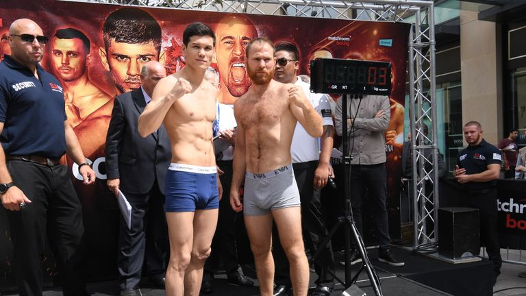 Yeleussinov and Gorbics both came in at 10st 9lbs