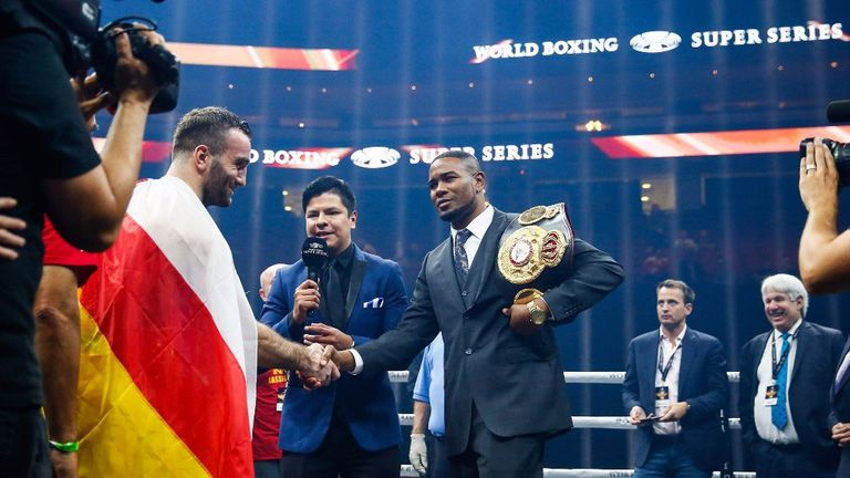 Yunier Dorticos was stopped in the final round by Gassiev