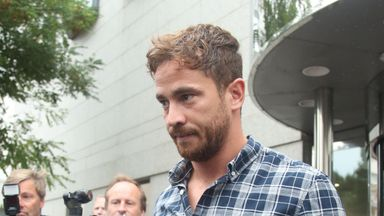 Danny Cipriani leaves Jersey Magistrate's Court on Wednesday morning