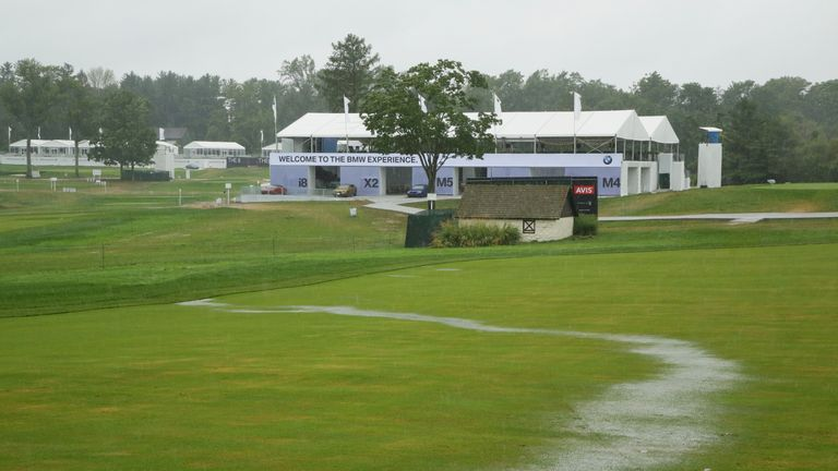 BMW Championship suspended due to bad weather